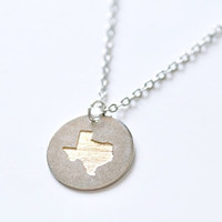 Engraved Charm Necklace - Texas State
