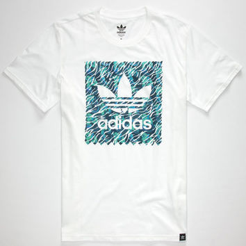 Adidas Aqua Stamp Mens T-Shirt White  In Sizes