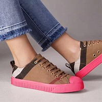 Burberry Rainbow grid sports casual shoes