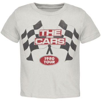 The Cars - Racing Flags 1980 Tour Premium Youth T-Shirt