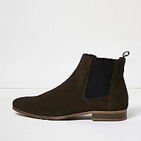 Dark brown suede Chelsea boots - boots - shoes / boots - men