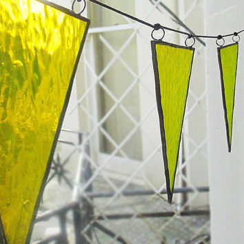 Yellow Stained Glass Bunting | Garland