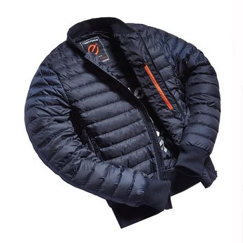 Man Jacket Bio-based Cotton Padded Coat Ultralight Fashion Men's Spring Outerwear Casual Men Puffy Bomber Jacket