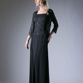 Long Mother of the Bride Formal Dress