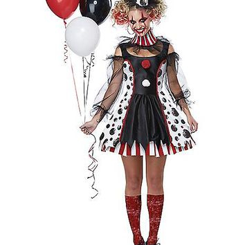 Adult Twisted Clown Costume - Spirithalloween.com
