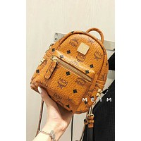 MCM 2018 High Quality Classic Women's Three-piece Shoulder Bag F-AGG-CZDL Brown