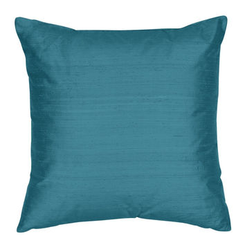 Throw Pillow Cover - Silk Shantung Decorative Pillow - 16,18,20,22,24 inch  Pillow  Cushion - Silk Fabric: July Blue