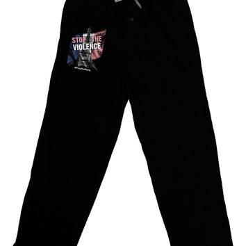 Distressed Paris Stop The Violence Adult Lounge Pants
