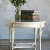 Eloquence Round Champagne Table Pale Sand