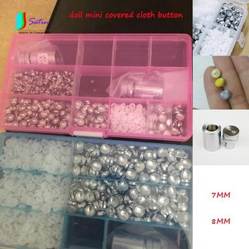 Doll Clothes Accessory Diameter 14L/16L Mini Round Super Small Flat Bottom Fabric Covered Button Aluminum Button S0255L