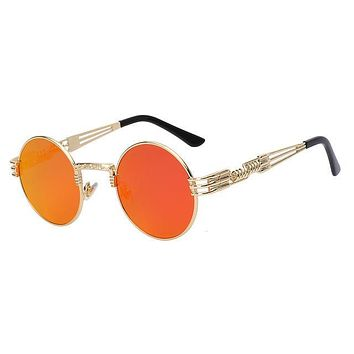 Round Metal Steampunk Sunglasses Style 2