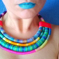 Statement Chokers lockets necklace, African tribal necklace, african jewelry, ethnic chokers necklace, tribal necklace, rope necklace
