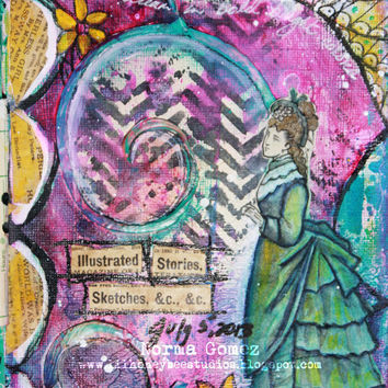 Illatrated Stories & Sketches - 9x12 Art Print Mixed Media