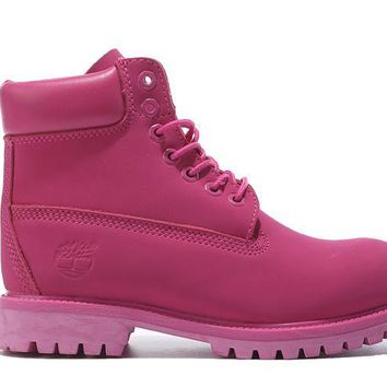 Timberland Rhubarb Boots 2018 Pink For Women Men Shoes Waterproof Martin Boots