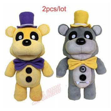 (2 pieces/lot)  100% Factory 30cm/12Inch  At Freddy Teddy Bear  Plush Doll For Baby Kids Toys
