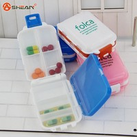 Novelty Min Bin Shape Portable Pill Box Holder Organizer Case Medicine Removerable Dispenser, 4 colors / Sent at random