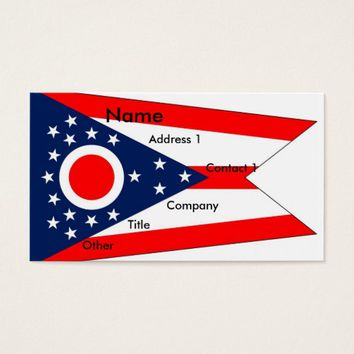 Business Card with Flag of Ohio U.S.A.
