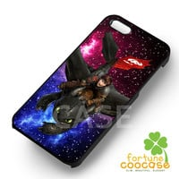 How To Train Your Dragon together on galaxy disney cartoon -s4rw for iPhone 6S case, iPhone 5s case, iPhone 6 case, iPhone 4S, Samsung S6 Edge