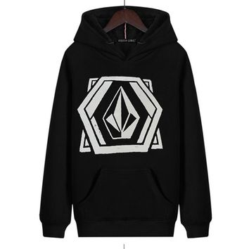 2018 Volcom Graphic Hoody Lace Up Sweatshirt Brand  Sweatshirt Winter And Autumn Cotton  Unisex Sweatshirt