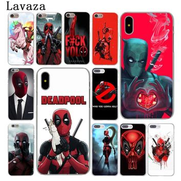 Lavaza Marvel deed pool Deadpool Hard Case Shell for Apple iPhone 6 6s 7 8 Plus 4 4S 5 5S SE 5C for iPhone XS Max XR Cases