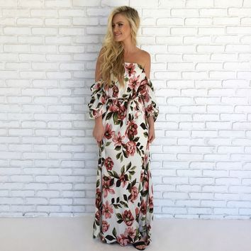 Hibiscus Honey Floral Maxi Dress