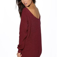 Aubree V Back Jumper Mini Dress | Boohoo