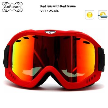 Snowboard Ski goggles Double Layers Anti-fog Lens Benice Women Men Children Snowmobile UV400 Glasses Snow Skiing Eyewear Esqui