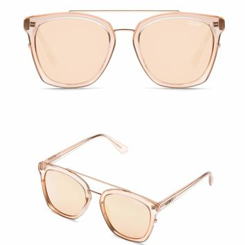Quay Australia - Sweet Dreams Classic Square Sunglasses - Champagne Rose