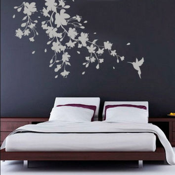 Sakura Floral decal housewares - 78.7 x 48.4 inches