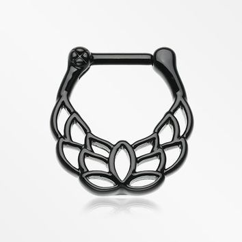 Blackline Grand Mandala Lotus Septum Clicker