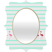 Monika Strigel Mini Flamingo Walk Quatrefoil Mirror