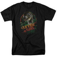 JURASSIC PARK/CLEVER GIRL - S/S ADULT 18/1 - BLACK -