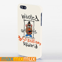 Mr Potato Head Wanted Poster iPhone 4/4S, 5/5S, 5C Series Full Wrap Case