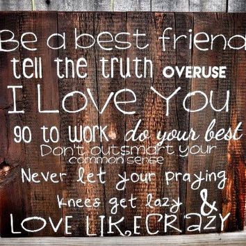 Love Like Crazy Wood Wedding Sign Gift Ideas