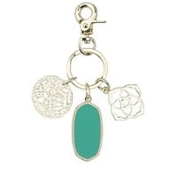 Shirley Charm Key Chain in Teal - Kendra Scott Jewelry