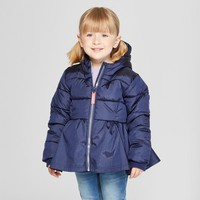 Toddler Girls' Puffer Jacket - Cat & Jack™ Blue