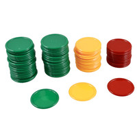Good deal Red Yellow Green Round Shaped Mini Poker Chips Lucky Game Props 69 Pcs