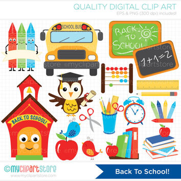 Back To School - Educational / Teachers Clip Art / Digital Clipart - Instant Download