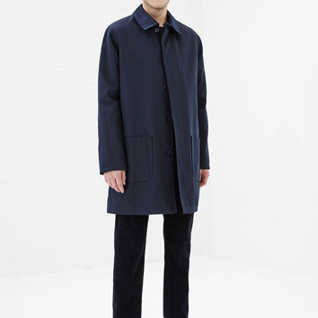 Totokaelo - A.P.C. Dark Navy Mason Mac Jacket - $720.00