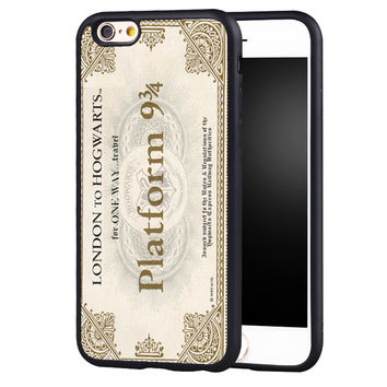 HARRY POTTER PLATFORM 9 34 Printed Soft Rubber Skin Mobile Phone Cases OEM For iPhone 6 6S Plus SE 5 5S 5C 4 4S Back Shell Cover