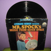 HOLIDAY SALE Rare Vinyl Record Mr. Spock's Music From Outer Space LP 1960s Sci Fi Leonard Nimoy Star Trek