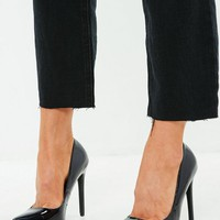 Missguided - Black Pointed Heel Patent Pumps