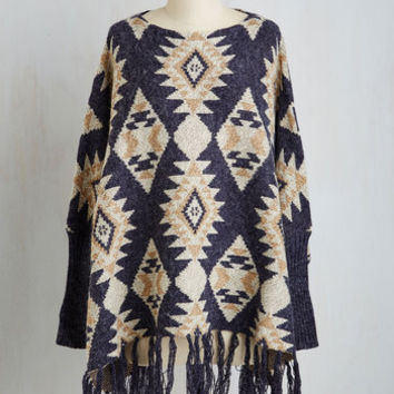 Boho Long View From the Canoe Sweater