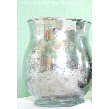 "5.5"" Bulk Mercury Glass Candle Holders- Vases"