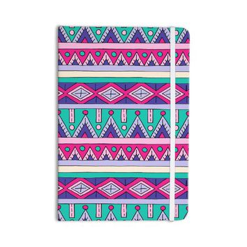 "KESS InHouse Everything Notebook, Journal Sarah Oelerich ""Teal Tribal"", Pink/Purple (SO1002ANP01)"