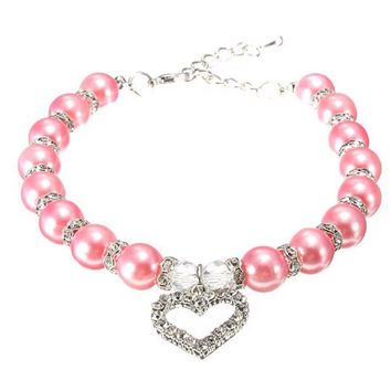 Cats Collar & Leads Jewelry Pearl Necklace