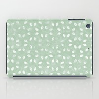 Sage Green White Petals  iPad Case by KCavender Designs