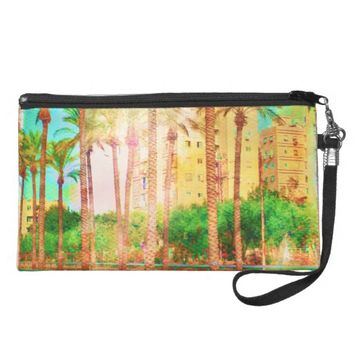 Colorful City Resort Wristlet