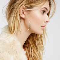 Free People Black Magic Stone Front Hoops