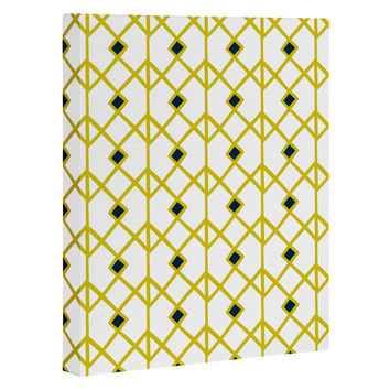 Heather Dutton Annika Diamond Citron Art Canvas